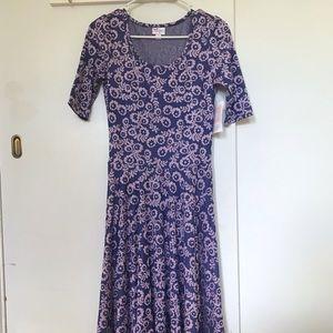 NWT Purple Floral LuLaRoe Nicole Dress